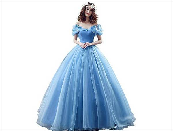 blue disney quinceanera dress