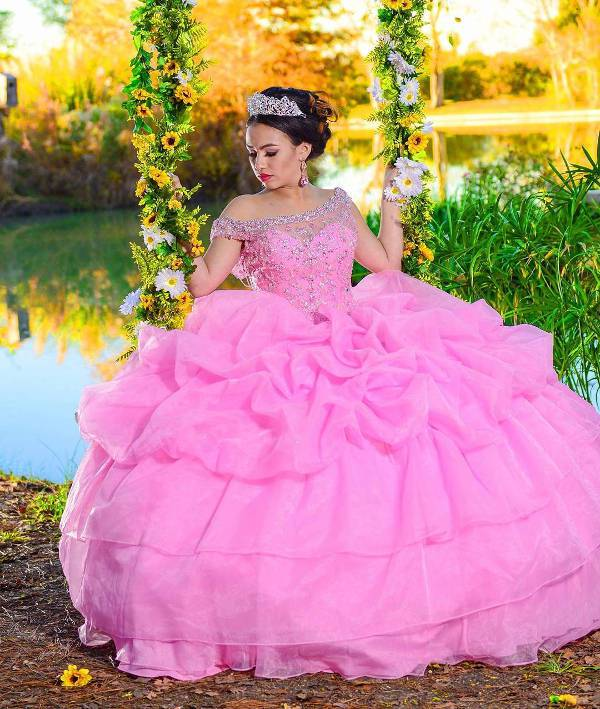 cute pink quinceanera dress