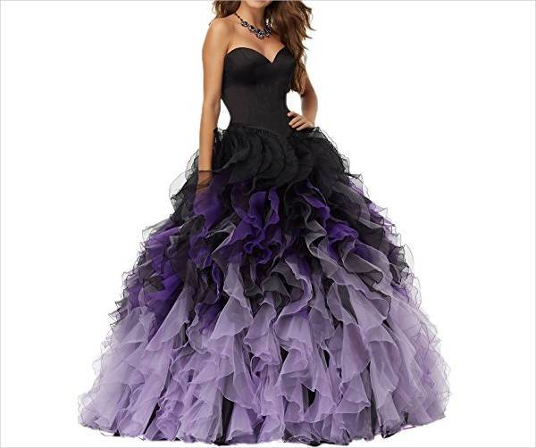 puffy quinceanera prom dress