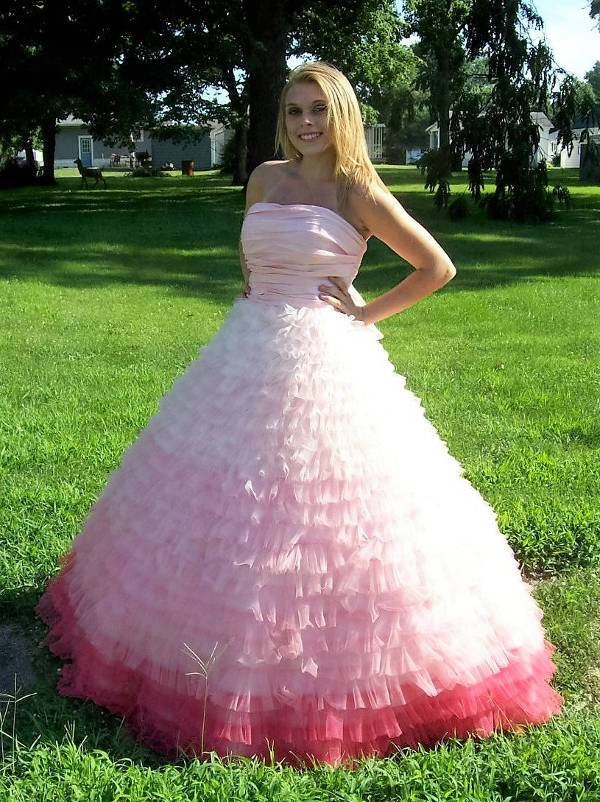 strapless vintage quinceanera dress