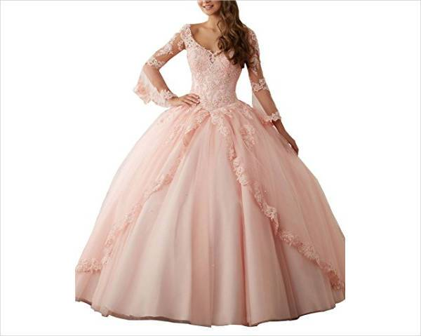pretty quinceanera lace dress