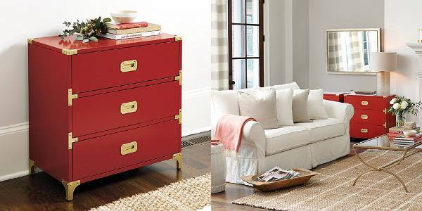 charlotte 3 drawer campaign chest
