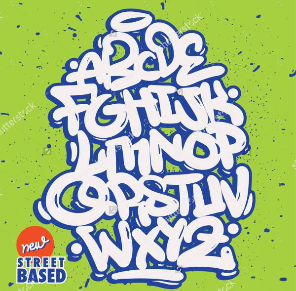 bubble hand lettering graffiti font