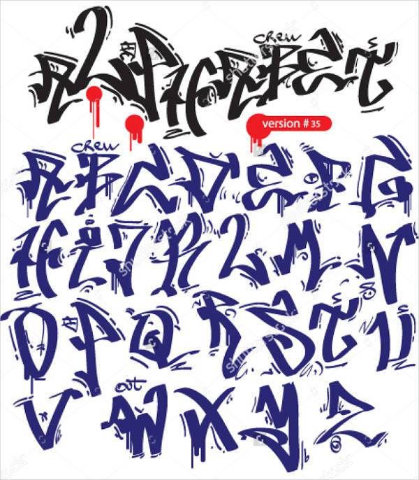 gothic graffiti lettering font