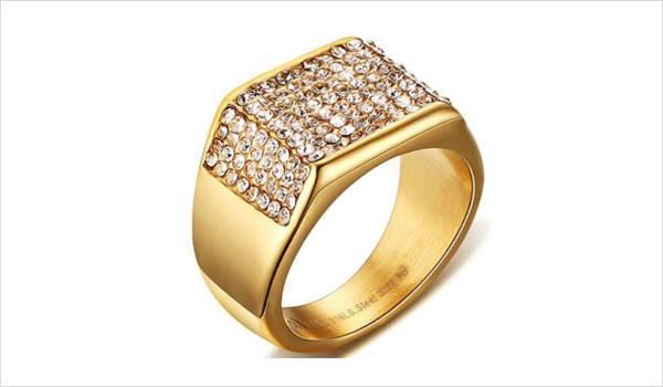 Gold Vintage Engagement Ring for men