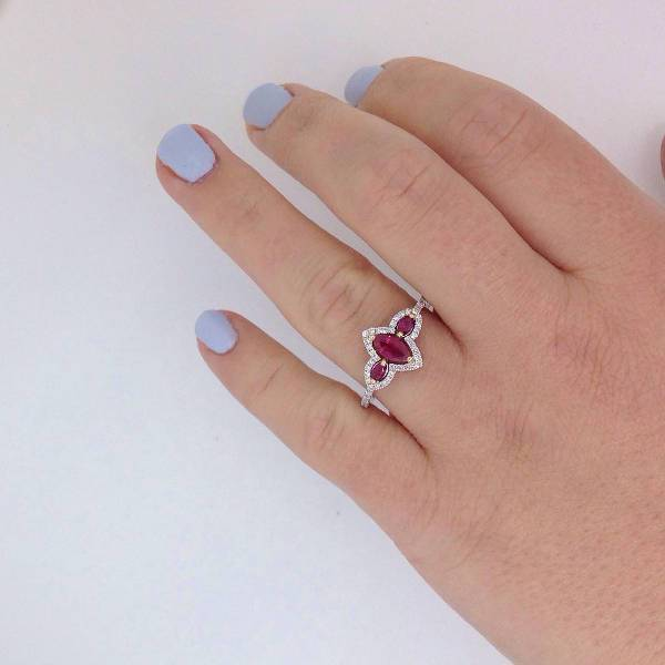 Beautiful Ruby Vintage Engagement Ring