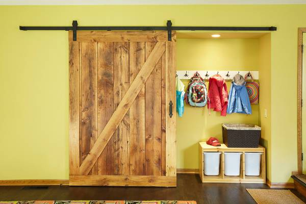 diy wooden closet door