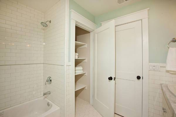 small bathroom closet door