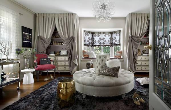 vintage round ottoman design