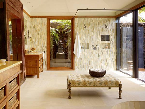 traditional bathroom ottoman design