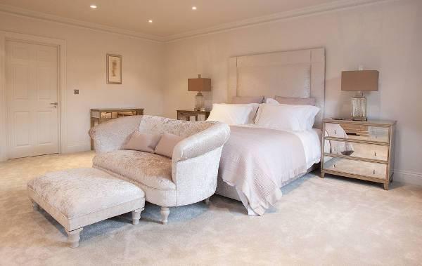 mirrored bedroom nightstand design