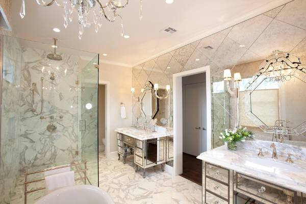 antique bathroom mirrored furniture