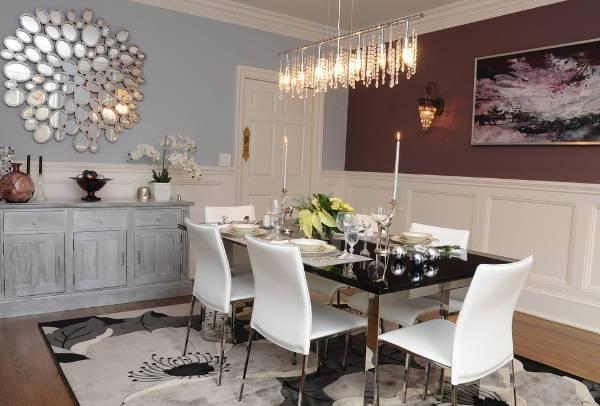 modern mirrored dining furniture