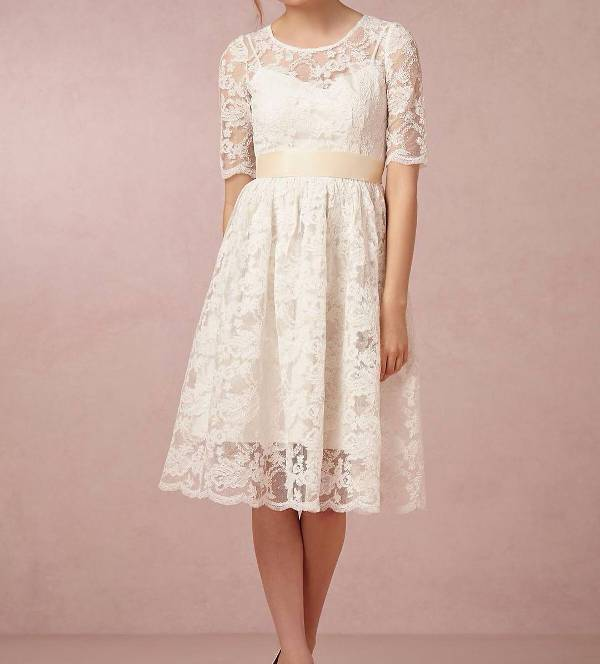 white lace homecoming dress
