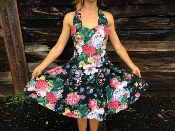 vintage floral homecoming dress