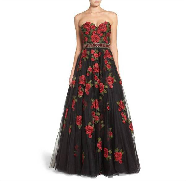 floral tulle homecoming dress