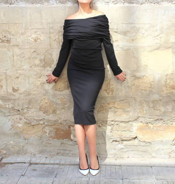 off shoulder bodycon homecoming dress