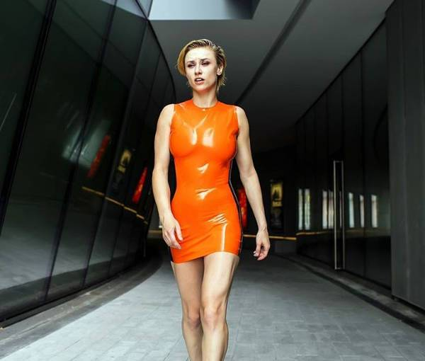 latex bodycon dress