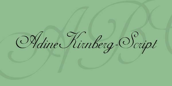 regular vintage script font