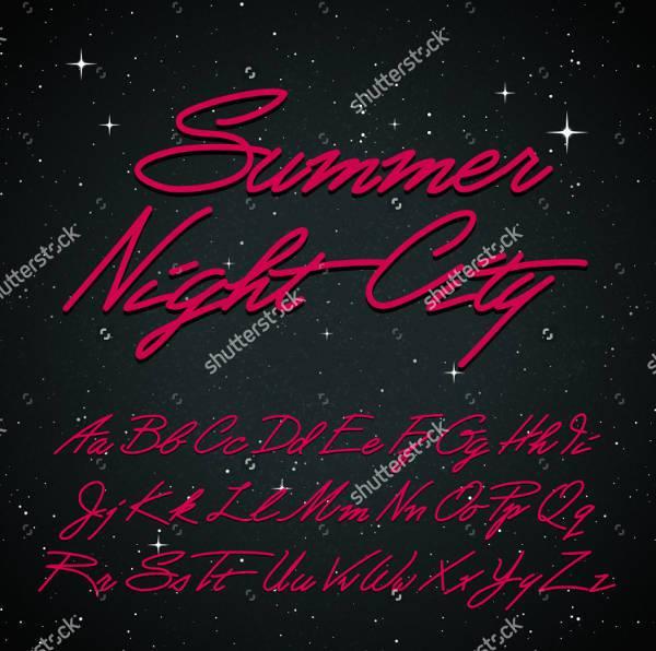 simple vintage cursive font
