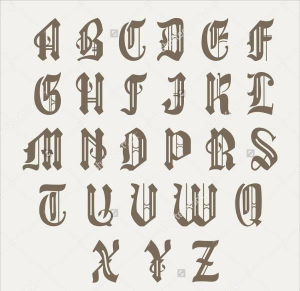 vintage gothic lettering font