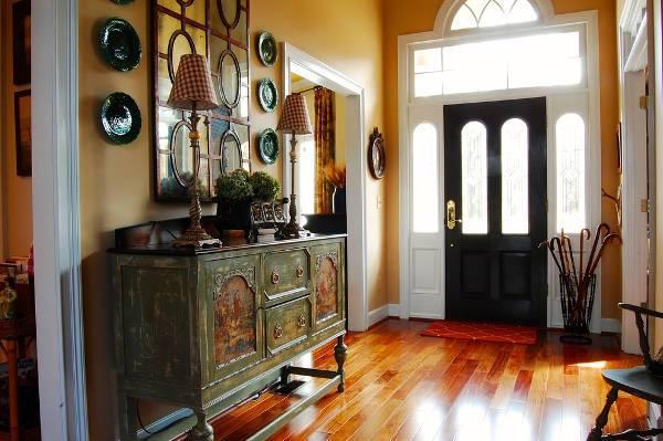 vintage hallway sideboard