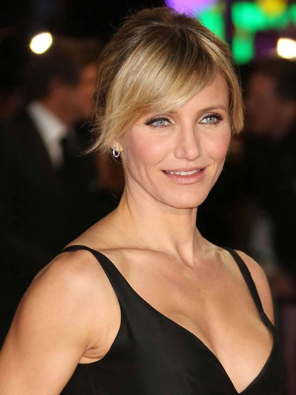 cameron diaz hairstyles with bangs for round faces