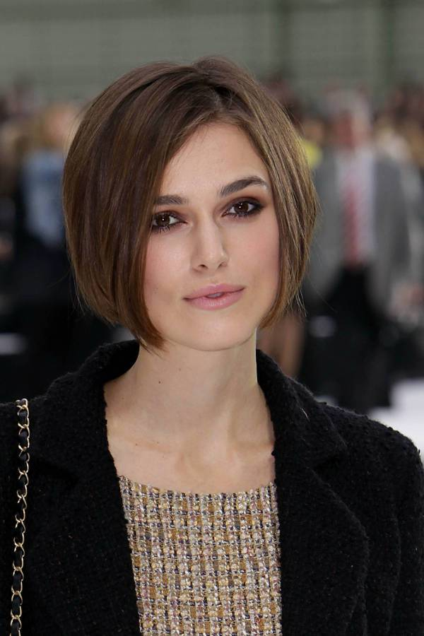 Keira Knightley Asymmetrical Haircuts For Round Faces