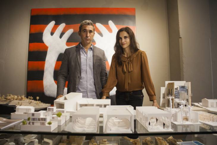 Paloma Hernaiz with Jaime Oliver