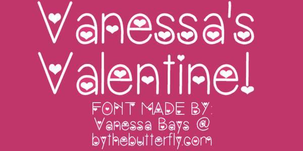 vanessa valentine font