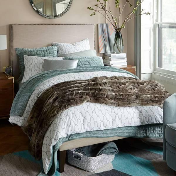 west elm narrow leg upholstered bed frame