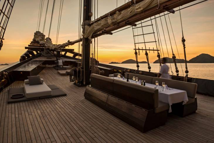 Dining in Foredeck