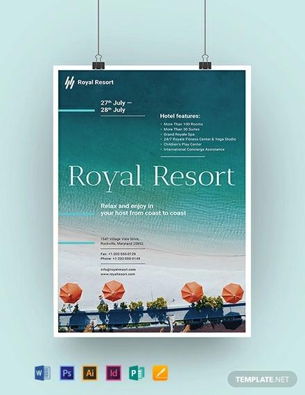 royal resort poster template