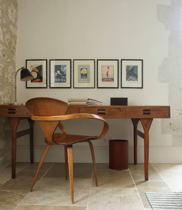 wooden desk chair designs