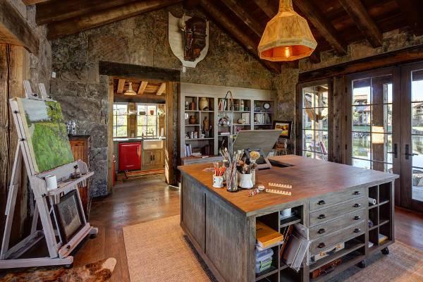 rustic executive desk designs