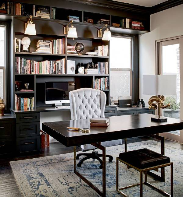 black executive desk ideas