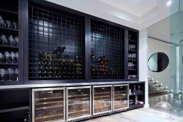 built in wine rack ideas