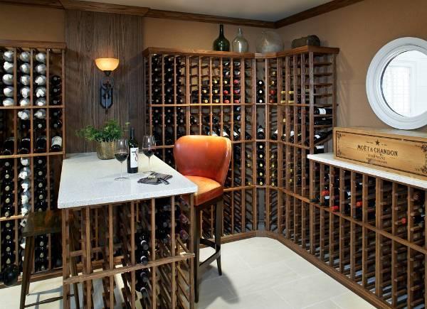 corner wine rack designs