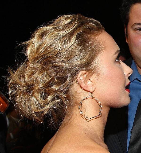 hayden panettiere updo curly hairstyles