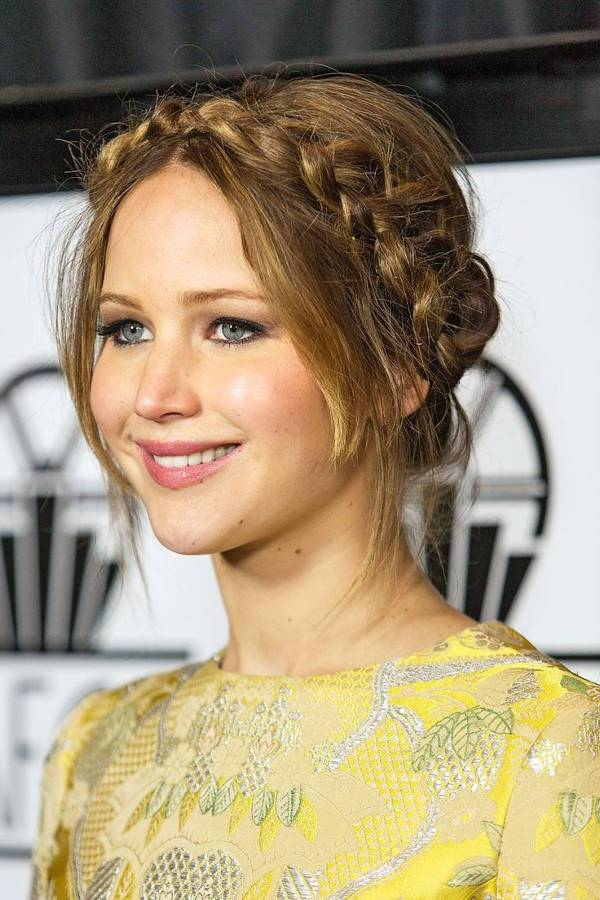 jennifer lawrence braided updos for long hair