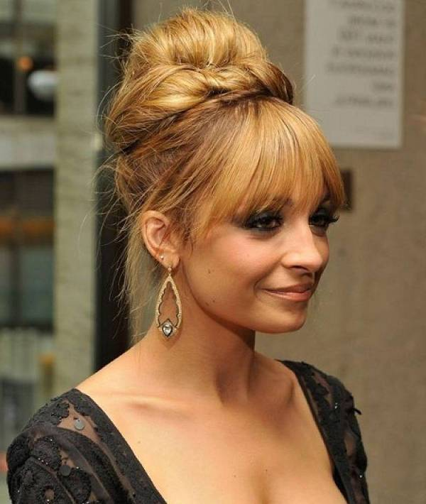 nicole richie long hair evening updos