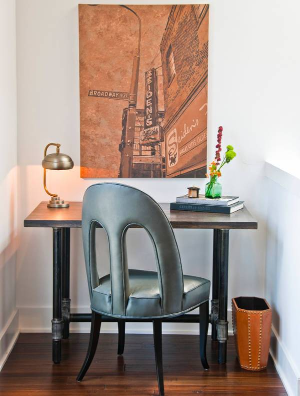 small metal desk designs