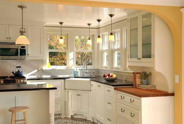 corner kitchen desk designs