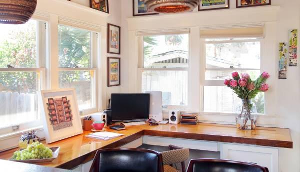 rustic corner desk designs