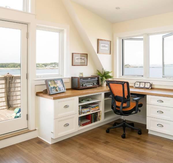 corner wooden desk designs