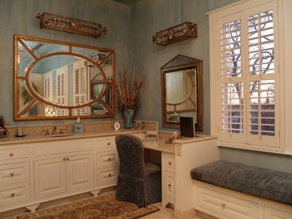corner vanity tables