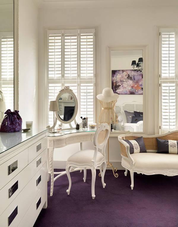 wicker vanity tables