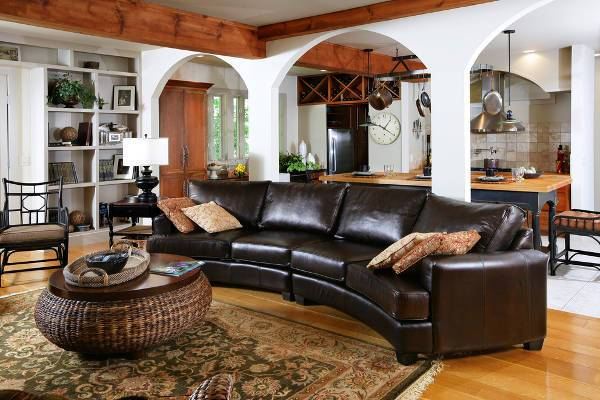 curved reclining sofas
