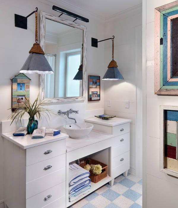 cottage bathroom lighting