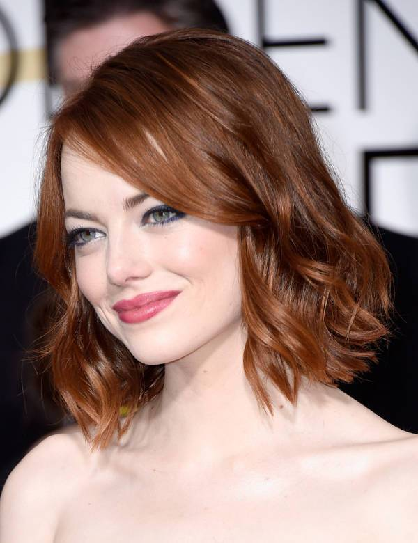 emma stone edgy bob haircut